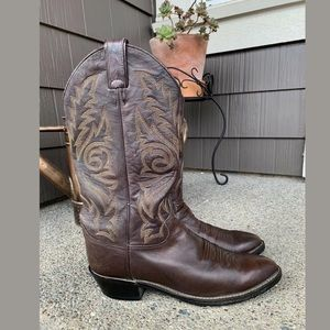 JUSTIN Leather Cowboy Boots Style1564 Size 8.5D